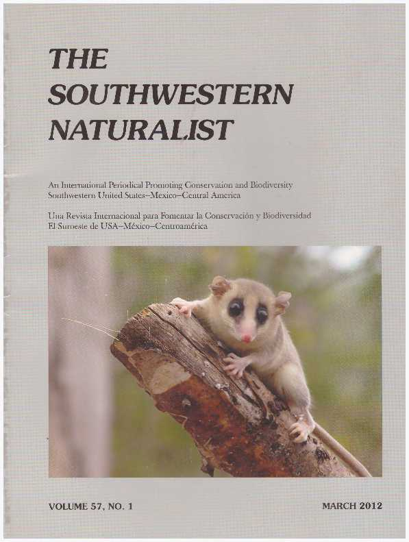 THE SOUTHWESTERN NATURALIST; Ten Issues