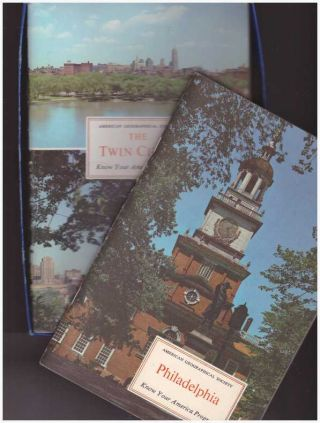 KNOW YOUR AMERICA PROGRAM; Five booklets in decorated box. American Geographical Society