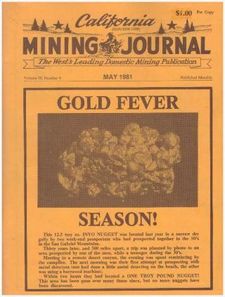 CALIFORNIA MINING JOURNAL; Volume 50, Number 9. Kenneth L. Harn, -publisher